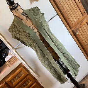 Loft sleeveless cardigan sweater size women small